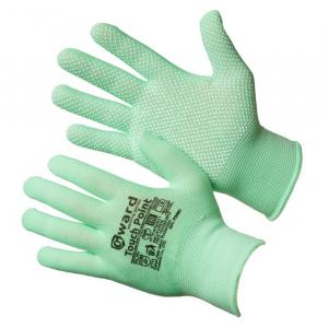 Перчатки нейлоновые Gward `Touch Point 8` с ПВХ микроточкой, черные, размер M