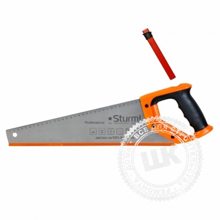 Ножовка по дереву Sturm с карандашом 500 мм. 7-8 зуб - в наличии с доставкой по России от Шукур