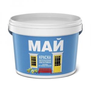 Краска МАЙ интерьерная влагостойкая 13 кг. белая