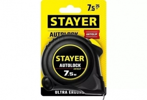 Рулетка STAYER AutoLock 7.5 м.*25 мм.