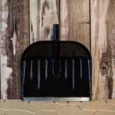 """Лопата снеговая """"АЛЯСКА"""" (черная) с оцинкованной планкой, 460*370 мм."""