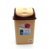 Ведро для мусора Камелия  4 л. бежево/темно-коричневое