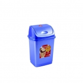 Ведро для мусора Камелия  4 л. бирюзово-перламутровое